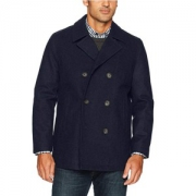 Nautica 男式双排扣羊毛大衣¥268.45+¥59.99含税直邮(约¥329)