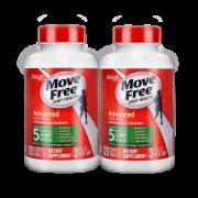维骨力 Move Free 氨基葡萄糖软骨素 绿盒120粒*2瓶*3件 关节疼首选