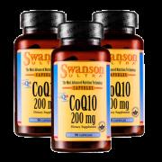 Swanson 天然辅酶Q10软胶囊 200mg*90粒*2瓶 心脏保健¥159