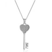 Amazon Collection 纯银心形钥匙吊坠项链