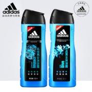 Adidas 阿迪达斯 纵情+冰点 男士沐浴露 各400ML26.9元包邮(46.9-20)