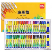 Deli 36色油画棒+内含加长器+卷笔刀