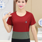 休闲大方!中老年女装T恤裤子套装¥19.80 1.0折 比上一次爆料降低 ¥10