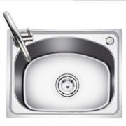KEGOO 科固 K10016 304不锈钢水槽单槽 水龙头套装