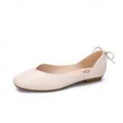 骆驼女鞋 平底单鞋 休闲百搭渔夫方头鞋子