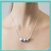 DOWER&HALL 纯银4颗淡水珍珠项链
