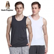 Hush Puppies 暇步士 男士弹力棉运动背心2件装69元包邮(需领20元优惠券)