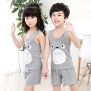 乌龟先森 男女童背心+短裤两件套