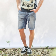 Lee 晶玉透凉 男士牛仔短裤(L15239AL21FR)