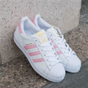 Adidas 阿迪达斯ORIGINALS 樱花粉大童金标贝壳