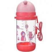 rikang 日康 晶透系列 儿童水杯 吸管杯 粉色 450ml *5件