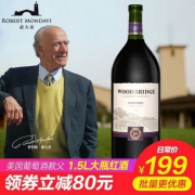 美国原瓶进口,蒙大菲酒园 五十周年家宴限量定制版 木桥系列金粉黛红葡萄酒1.5L