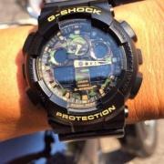CASIO 卡西欧 G-SHOCK系列 GA-100CF-1A9DR 男士迷彩运动手表