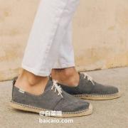 Soludos 男士 Derby Lace-Up 系带渔夫鞋MLA1003 两色