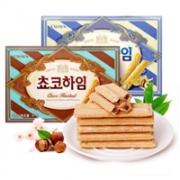 CROWN韩国进口奶油/巧克力榛子威化47g*3盒