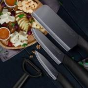 DELIER 德利尔 厨房黑刃陶瓷刀5件套