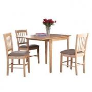 easy life 生活诚品 SMD10376T 实木餐桌椅套装  一桌四椅799元包邮(下单立减)
