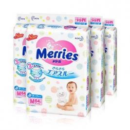 Kao 花王 Merries 妙而舒 婴儿纸尿裤 M64片 *4件