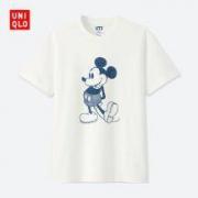 历史低价:UNIQLO 优衣库 412321 男女同款MICKEY BLUE印花T恤