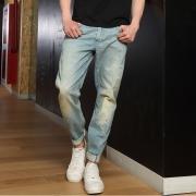 LEE 2018春秋款男士低腰九分牛仔裤