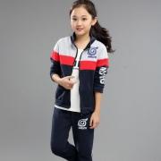 乌龟先森 男女童秋季运动卫衣两件套