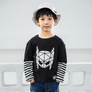 乌龟先森 男童圆领假两件长袖T恤