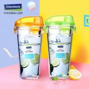 Glasslock 耐热钢化玻璃 透明水杯 带盖 450ml