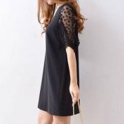 Snidel 18年夏季 透明袖口连衣裙SWFO181047 Prime会员免费直邮含税