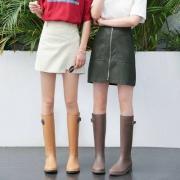 麦遇 MAIYU 女士时尚防滑PVC高筒雨靴