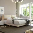 A家家具 DA0120-180 米黄色1.8米床+床垫*1+床头柜*1¥2699