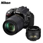 Nikon 尼康 D5300(18-105mm+DX 35mm f/1.8G)单反相机双镜头套装4699元包邮(需用券)