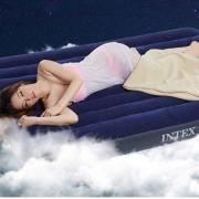 INTEX 深蓝灯心绒充气床垫  152*203*22