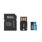 Netac 朗科 P500 64GB U1 TF卡 科技蓝(内存卡+读卡器+SD卡套)