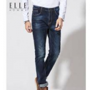 ELLE HOMME 男士做旧水洗牛仔裤129.1元包邮(双重优惠)