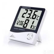 雨花泽 电子数字高精度 干湿温度计 带闹钟功能