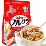 Calbee  卡乐比 水果燕麦片 700g*2包 +德运牛奶