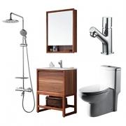 BRAVAT 贝朗     F0033-Z 浴室套装(连体坐便器 + 浴室柜 + 面盆龙头 + 全铜恒温淋浴柱)