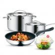 福腾宝(WMF)不锈钢锅具三件套547.2元包邮(双重优惠下),赠沙拉碗!