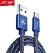 ASZUNE 艾苏恩 Type-c安卓快充电数据线 3条装