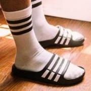 限44.5码: Adidas 阿迪达斯 Duramo Slide G15890 中性运动拖鞋