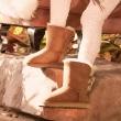 UGG 2018秋冬新款 羊皮面+羊毛绒衬 女雪地靴 蝴蝶结短靴¥858