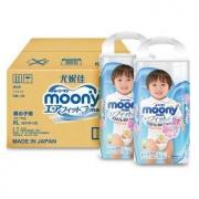 moony 尤妮佳 男婴用拉拉裤 XL38片*2包  *4件
