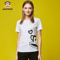 paulfrank 2018夏季新款女士棉质运动休闲时尚短袖T恤 白色 S *2 169元包邮(2件5折)