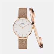 Daniel Wellington 丹尼尔惠灵顿 DW00100163 女士时装手表+手镯套装