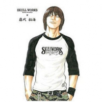 SKULL WORKS×TFOA 热血高校 藤代拓海拼色T恤 6372日元约¥391
