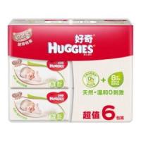 HUGGIES 好奇 铂金装 婴儿湿巾 80抽*6包 *2件116.4元包邮(合58.2元/件)