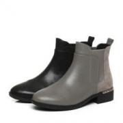Tata  他她  切尔西靴女短靴  FAL41DD7 低靴纯色方跟  黑色378元包邮(多重优惠)
