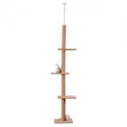 伊丽 LWS-0019-BGE 宠物猫爬架 顶天立地猫台 *2件