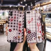 Orico 奥睿科 iphone多系列 软胶腕带格子手机壳