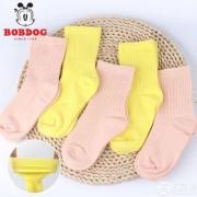 A类品质,Bobdog 巴布豆 儿童棉袜5双